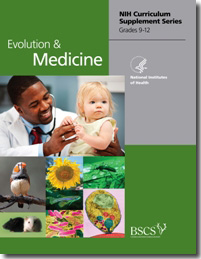 image of the front of curriculum materials for Evolution and Medicine