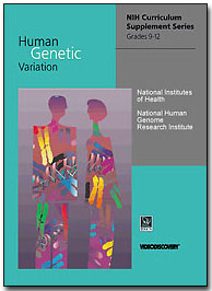 image of front page of curricular materials for Human Genetic Variation