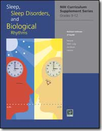 Image of the front page of curricular materials about Sleep, Sleep Disorders and Biological Rhythms