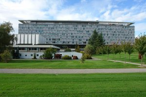 A large building housing the World Health Organization.