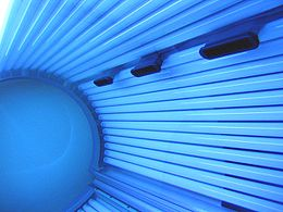 inside of a tanning bed