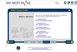 screenshot of careers website